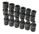 "SK HAND TOOLS 32350 12 Pc. 1/4"" Drive 6 Pt. Swivel Metric Impact Socket Set"