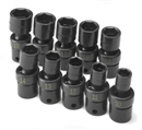 "SK HAND TOOLS 33351 10 3/8"" Drive Metric Impact Socket Set"