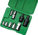 SK HAND TOOLS 4010 10 Pc. Universal & Adapter Set