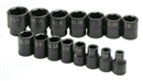 "SK HAND TOOLS 4035 15 Pc. 1/2"" Drive 6 Pt. Standard Fractional Impact Socket Set"