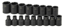 "SK HAND TOOLS 4036 17 Pc. 1/2"" Drive Standard Metric Impact Socket Set"