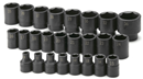 "SK HAND TOOLS 4037 25 Pc. 1/2"" Drive 6 Pt. Standard Metric Impact Socket Set"