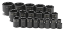 "SK HAND TOOLS 4039 19 Pc. 1/2"" Drive 6 Pt. Standard Fractional Impact Socket Set"