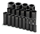 "SK HAND TOOLS 4049 19 Pc. 1/2"" Drive 6 Pt. Deep Fractional Impact Socket Set"