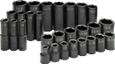 "SK HAND TOOLS 4051 28 Pc. 1/2"" Drive Impact Socket Set"