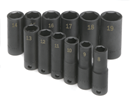 "SK HAND TOOLS 4082 12 Pc. 3/8"" Drive 6 Pt. Deep Metric Impact Socket Set"