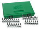 "SK HAND TOOLS 89039 33 Pc 1/4"" & 3/8"" Dr. Fractional & Metric Bit Socket SuperSet"