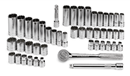 "SK HAND TOOLS 94547-12  47 Pc. 3/8"" Drive 12 Point Standard & Deep Fractional & Metric Socket Set"