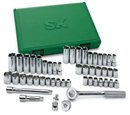 "SK HAND TOOLS 94549 49 Pc. 3/8"" Drive Fractional/Metric Socket Set"