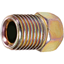 "S.U.R.& R. INC. BR105 4 Pk. Inverted Flare Nuts, 3/8"" - 24"