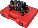 "SUNEX TOOLS 2644 1/2"" Dr. Universal Impact Socket Set, 14 Pc. SAE"
