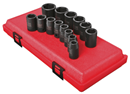 "SUNEX TOOLS 2652 1/2"" Dr. Standard Impact Socket Set, 14 Pc. Metric"