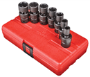 "SUNEX TOOLS 3654 3/8"" Dr. Universal Impact Socket Set, 7 Pc. SAE"