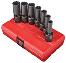 "SUNEX TOOLS 3656 3/8"" Dr. Universal Deep Impact Socket Set, 7 Pc. SAE"