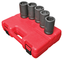"SUNEX TOOLS 5626 1"" Dr. Combination Budd Wheel Impact Socket Set, 5 Pc. SAE & Metric"