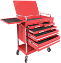SUNEX TOOLS 8045 Red Professional-Duty 5 Drawer Service Cart