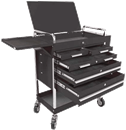SUNEX TOOLS 8045BK Black Professional-Duty 5 Drawer Service Cart