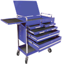 SUNEX TOOLS 8045BL Blue Professional-Duty 5 Drawer Service Cart