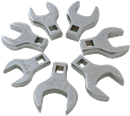 "SUNEX TOOLS 9720 Jumbo Straight Crowfoot Wrench Set, 1/2"" Dr., 7 Pc."