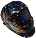 TITAN 41265 Solar Powered Auto Dark Welding Helmet, Eagle Graphics