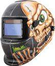 TITAN 41279 Solar Powered Auto Dark Welding Helmet, Skull