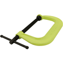 "WILTON 14303 C-Clamp, 400 Series Hi-Vis Safety, 0 - 6-1/16"" Opening, 4-1/8"" Throat"