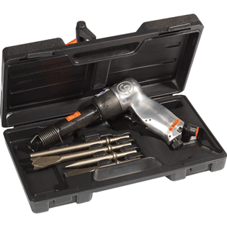 CHICAGO PNEU. 714K Heavy Duty Air Hammer Kit with 4 Chisels