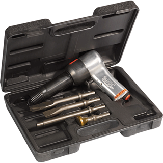 CHICAGO PNEU. 717K Heavy Duty Air Hammer Kit Complete with 4 chisels