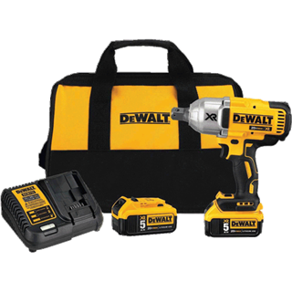 "DEWALT DCF897P2 20V MAX* XR High Torque 3/4"" Impact Wrench with Hog Ring Retention Pin Anvil (5.0 Ah)"