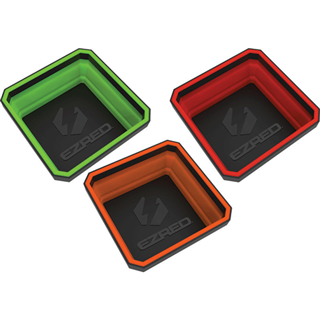 E-Z RED EZTRAY-CLR 3 Pk. Collapsible Magnetic Trays