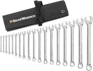 GEARWRENCH 81917 18 Pc. SAE Combination Wrench Set
