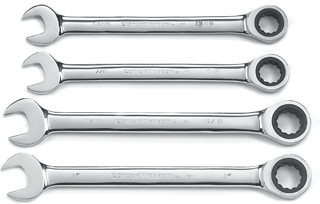 GEARWRENCH 9309D 4 Pc. SAE Large Size Combination Ratcheting Wrench Set