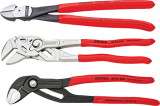 "KNIPEX PLIER 9K0080117US 3 Pc. 10"" Pliers Set"