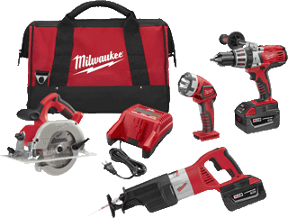 MILWAUKEE 0928-29 M28™ Cordless LITHIUM-ION 4-Piece Combo Kit