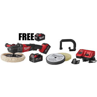 MILWAUKEE ELEC. 2738-22PX M18 FUEL™ Cordless Rotary Polisher Kit with Pads