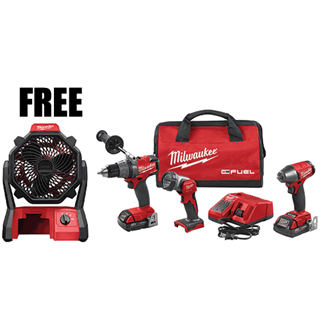 MILWAUKEE ELEC. 2891-23FAN M18 FUEL™ 3 Pc. Auto Combo Kit