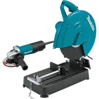 "MAKITA U.S.A. LW1401X2 14"" Cut-Off Saw with 4-1/2"" Paddle Switch Angle Grinder"