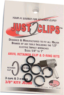 "NTS PRO TOOLS JC38012 3 Pc. 3/8"" Retainer Set, 12 Pack"