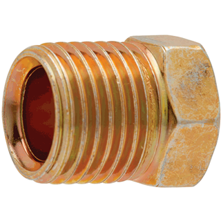 "S.U.R.& R. INC. PS2120 2 Pk. 5/16"" Male Tube Nut, 1/2"" x 20"